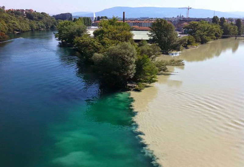 Rhone and Arve Rivers (Geneva, Switzerland)